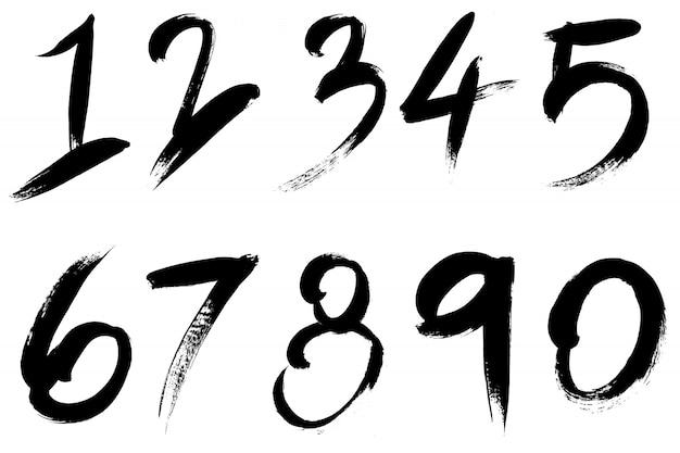 Grunge ręcznie rysowane pędzlem pasek. tło wektor czarny atrament wysokiej szczegółowości.