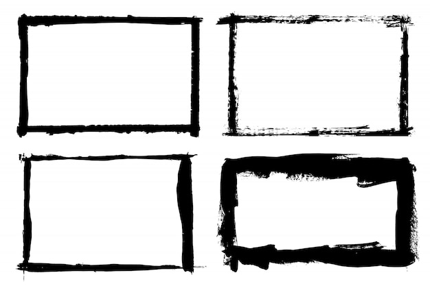 Grunge ręcznie rysowane pędzlem pasek.