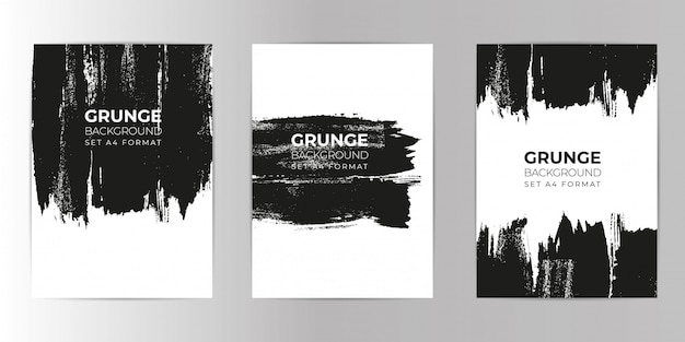 Grunge ręcznie rysowane tło zestaw formatu a4
