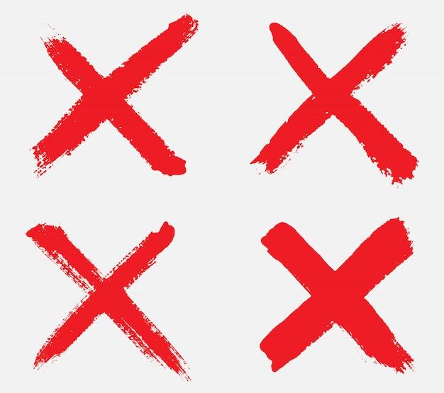 Grunge ręcznie rysowane x znak