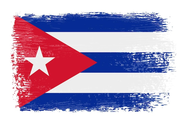Grunge rocznika flaga kuby