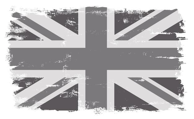 Grunge rocznika flaga wielkiej brytanii
