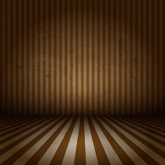 Grunge styl obrazu z wnętrza z paski ściany i podłogi