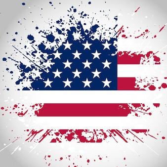 Grunge stylu american flag background
