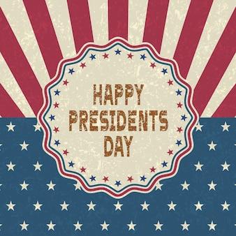 Grunge szczęśliwy dzień prezydentów tło, styl retro