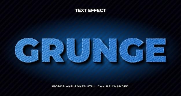 Grunge tekst edytowalny efekt. nowoczesny styl tekstu