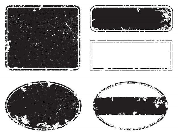 Grunge teksturowane etykiety