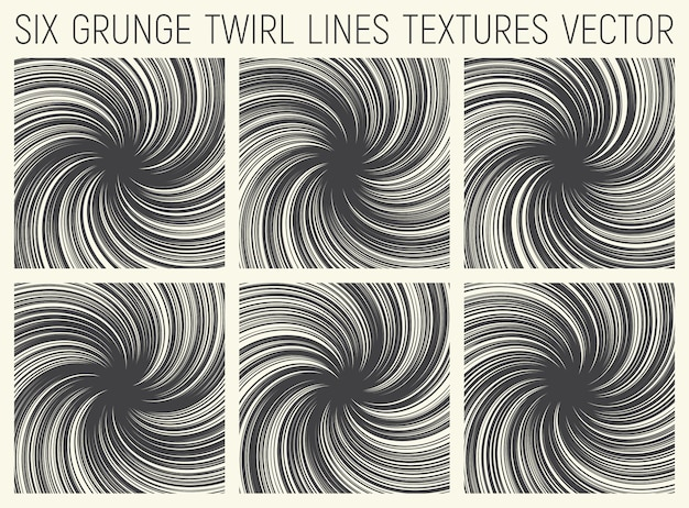Grunge twirl linii tekstur wektoru set