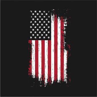 Grunge usa flaga wektor