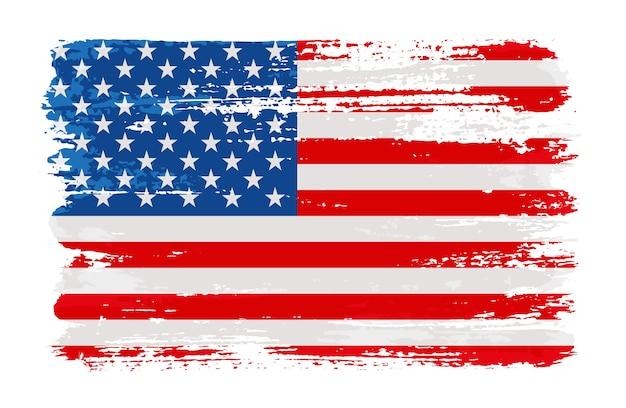 Grunge w trudnej sytuacji amerykańską flagę