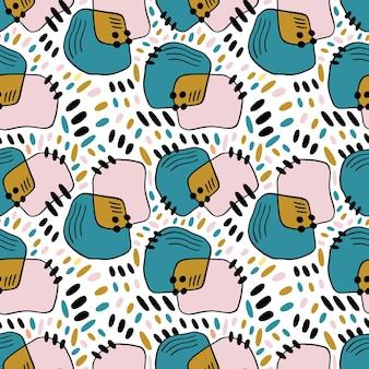 Grunge wzór z kolorowymi plamami do projektowania tekstyliów i tekstury tapety.