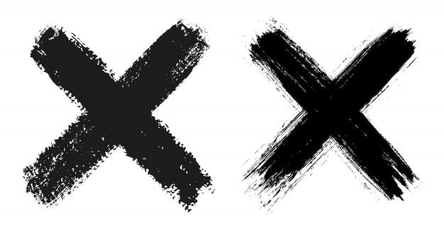 Grunge x znak