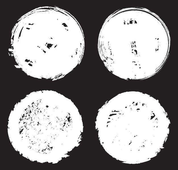 Grunge zakłopotany okrągłe ramki
