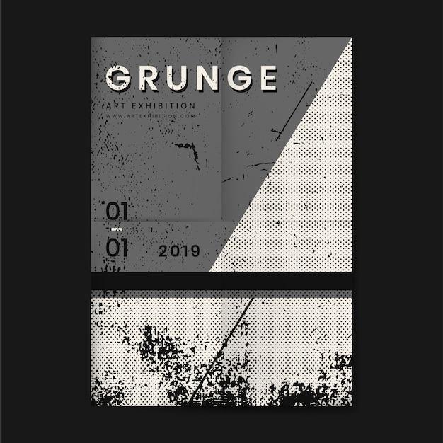 Grunge zakłopotany tekstura plakat