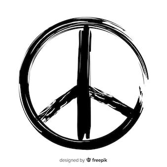 Grunge znak pokoju