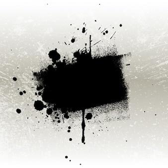 Grungy czarna plama