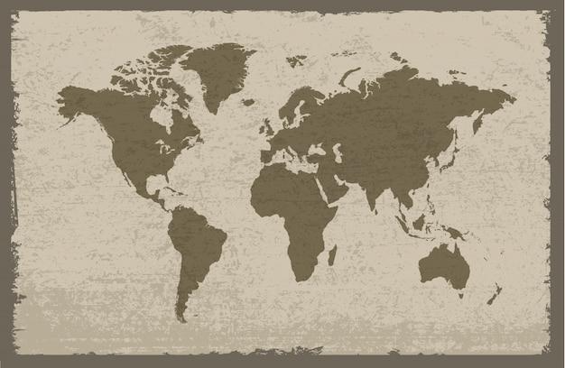Grungy mapa świata