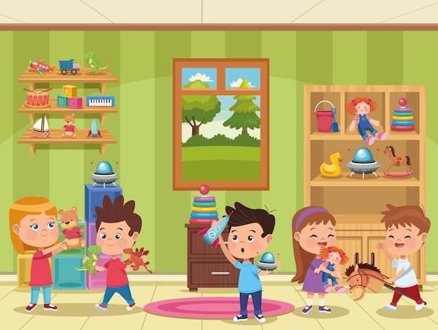 Grupa bawiących się dzieci