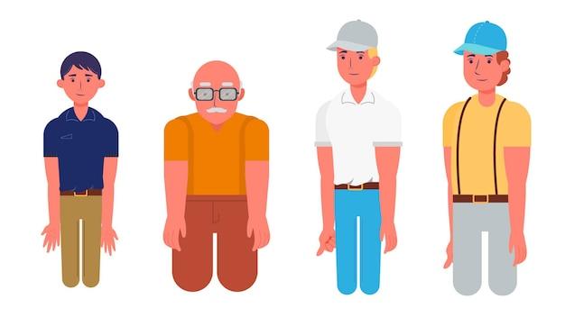 Grupa charakterów odosobniona wektorowa ilustracja