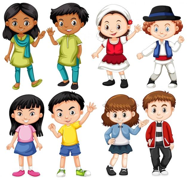 Grupa dzieci z zagranicy