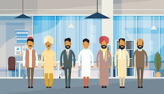 Grupa Indian People Businessman