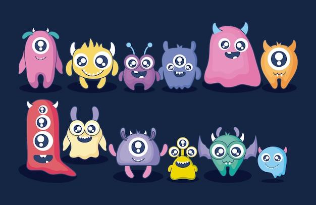 Grupa karty słodkie potwory