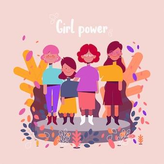 Grupa kobiet ilustracji