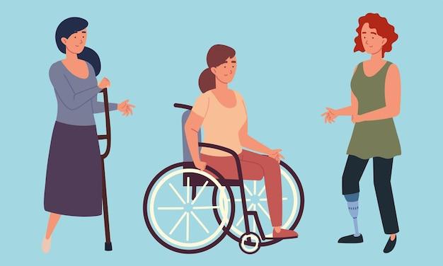 Grupa kobiet niepełnosprawnych