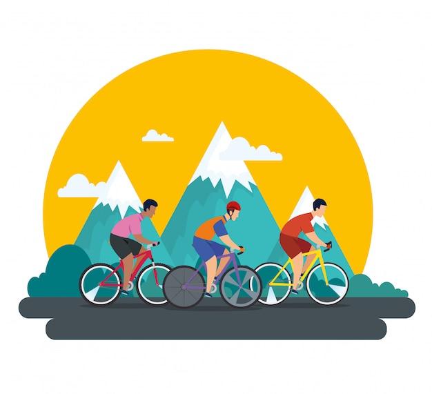 Grupa kolarzy w mistrzostwach