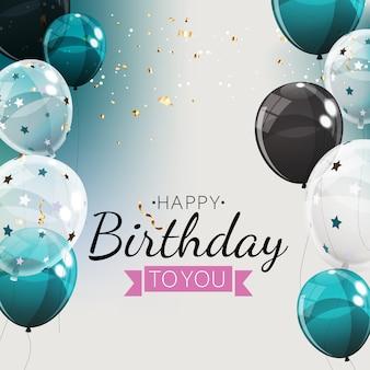 Grupa kolor błyszczący balonów helu tło. zestaw balonów na urodziny, rocznicę, dekoracje świąteczne. ilustracja
