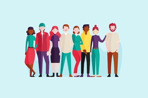 Grupa ludzi ilustracji