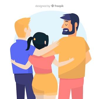 Grupa ludzi młodych przytulanie razem
