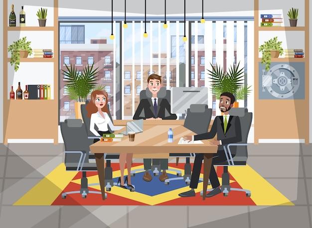 Grupa ludzi na konferencji. pracownicy siedzący