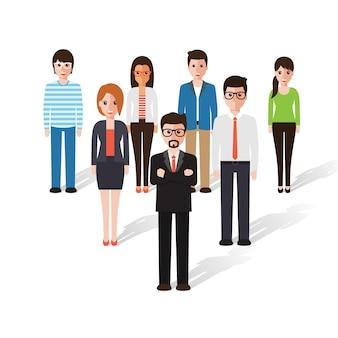 Grupa ludzi pracy