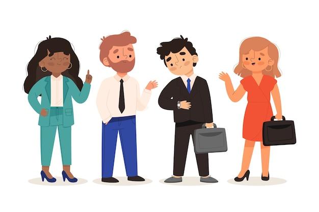 Grupa ludzi sukcesu w biznesie