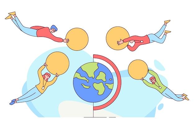 Grupa ludzi wymiany walut obcych na całym świecie