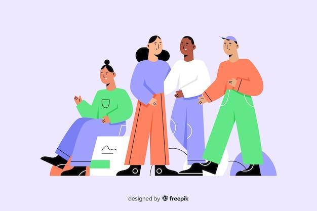 Grupa ludzi z różnych ras