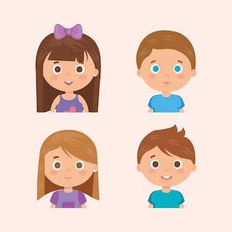 Grupa małych dzieci znaków