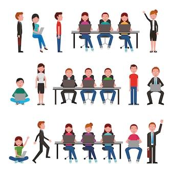 Grupa młodych ludzi biznesu