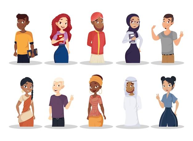 Grupa młodych ludzi różnorodności