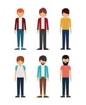 Grupa młodych mężczyzn projektowania