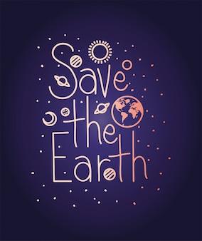 Grupa Obchodów Dnia Planety Ziemi Premium Wektorów