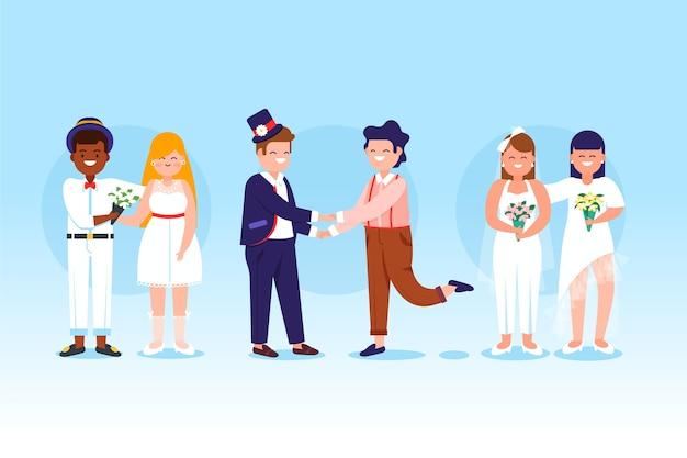 Grupa par ślubnych