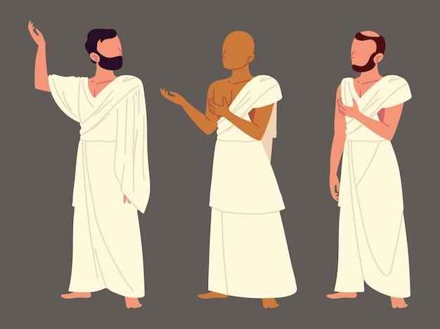 Grupa pielgrzymów mężczyzn
