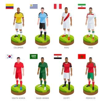 Grupa piłkarz piłkarz jersey reprezentacji świata