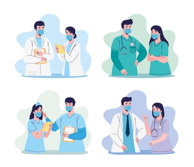 Grupa pracowników lekarzy