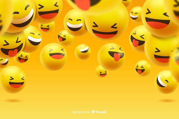 Grupa śmiejących się znaków emoji
