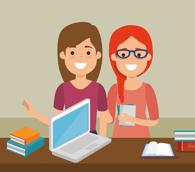 Grupa studentów z wykształceniem online