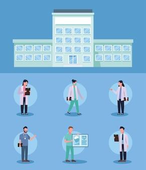Grupa sześciu lekarzy