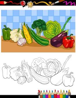 Grupa warzyw ilustracja do kolorowania